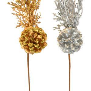 Glitter Cone & Twig Pick