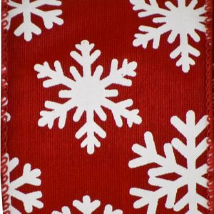 Wired Red/White Snowflake #40