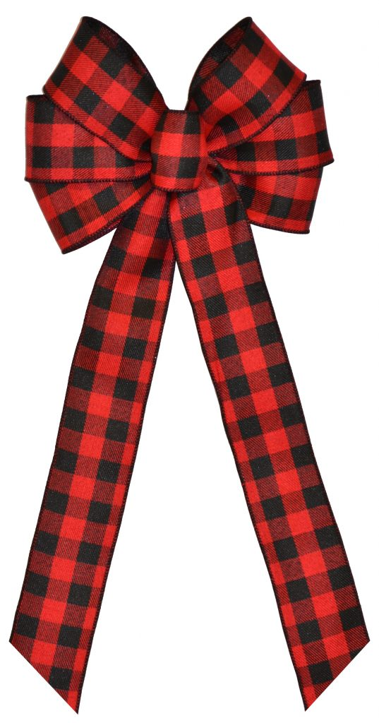 7 Loop #40 Wired Red/Black Check, 16″ Tails