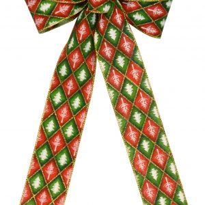 7 Loop #40 Wired Red/Green Diamond, 16″ Tails