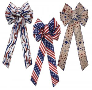 Patriotic Bow Assortment 12/cs