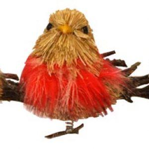 4″ Straw Bird w/Clip