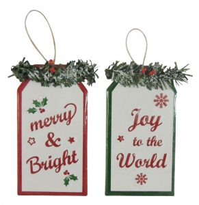 6″ Metal Ornament