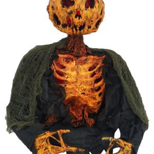 17″ Pumpkin Ghoul Ground Breaker w/ Burning Light and Sound