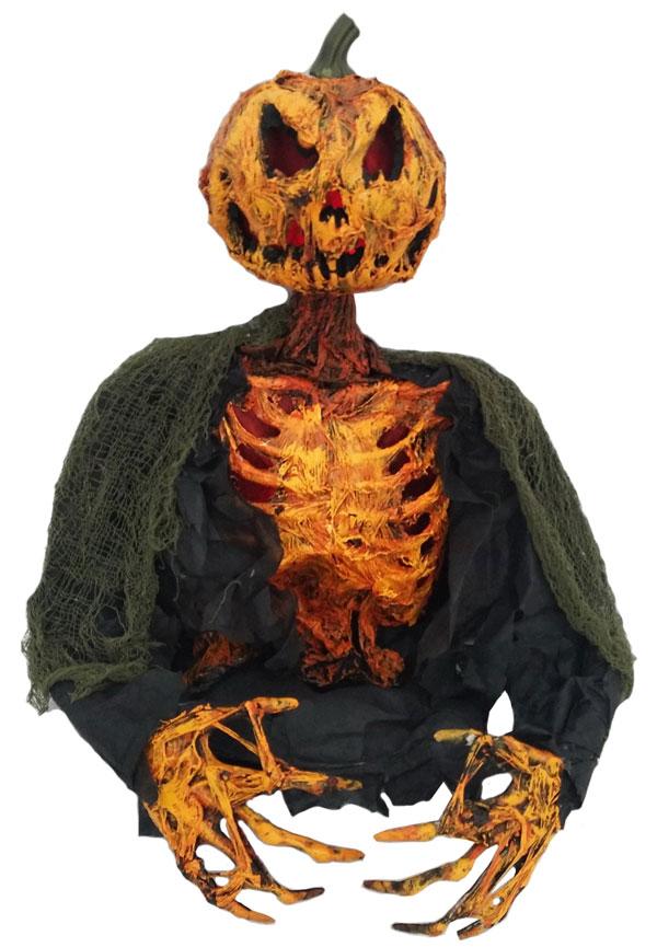17″ Pumpkin Ghoul Ground Breaker w/ Burning Light and Sound