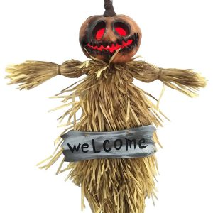 35″ Hanging Pumpkin Ghoul w/ Light Up Eyes