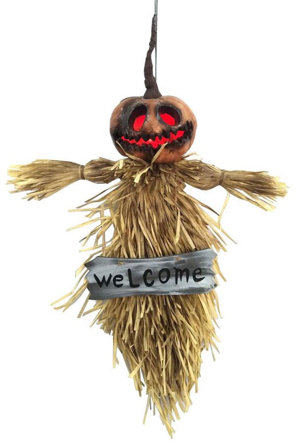35″ Hanging Pumpkin Ghoul w/ Light Up Eyes