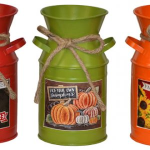 8″ Metal Harvest Jars