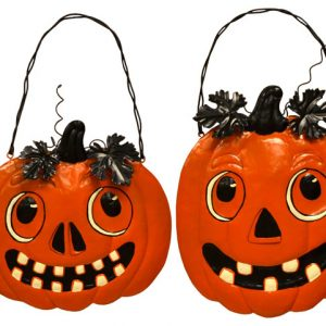 11″ Metal Pumpkin Head Wall Hangers