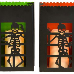 10″ Metal Skeleton Luminaries with LED Pillar