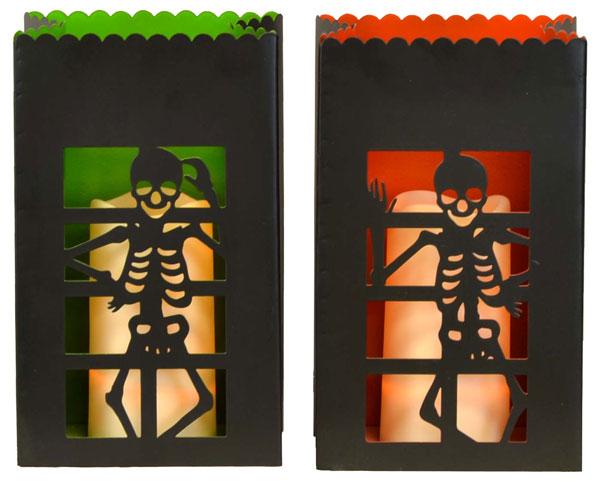10″ Metal Skeleton Luminaries with LED Pillar