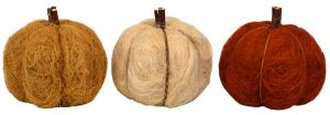 6″ Straw Pumpkins