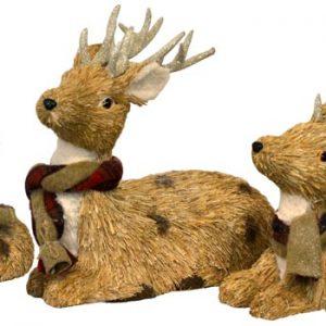 Straw Reindeer Set