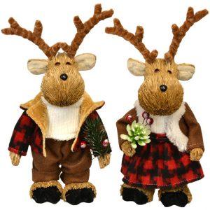 10″ Standing Straw Moose