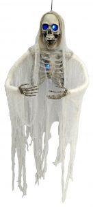 52″ Hanging Half Skeleton w/ Blue Light