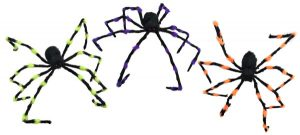 55″ Colorful Spiders