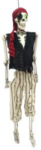 62″ Hanging Poseable Pirate Skeleton