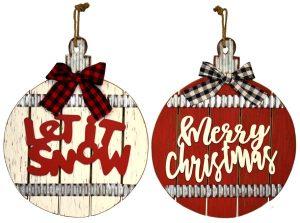 14″ Hanging Wood Ornament Decor