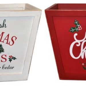 18″ Wooden Holiday Box