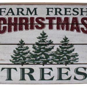 12″ Farm Fresh Christmas Trees Wall Plaque