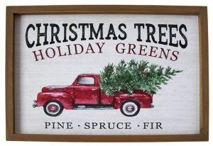 14″ Christmas Trees Wall Plaque