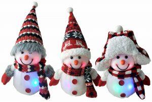 8″ LED Snowman