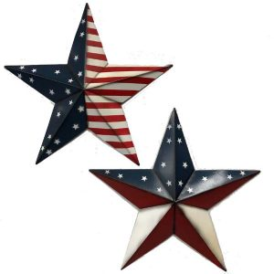24″ Metal Patriotic Stars Wall Hanger