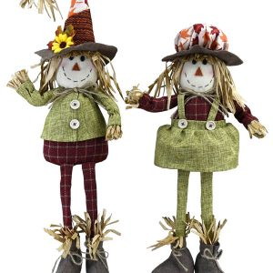 18″ Plush Scarecrow Couple