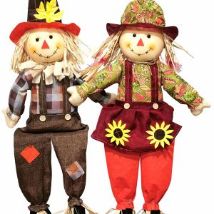 31″ Sitting Scarecrow Couple