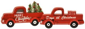 10″ Wood Truck Date Keeper and Decor