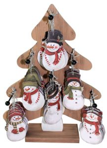 14″ Snowman Ornament Tree Display