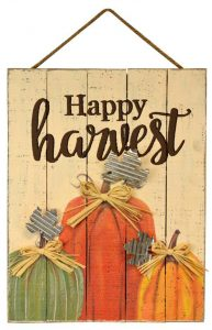 20″ Harvest Wood Wall Hanger