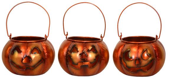 5″ Metal Jack O Lanterns
