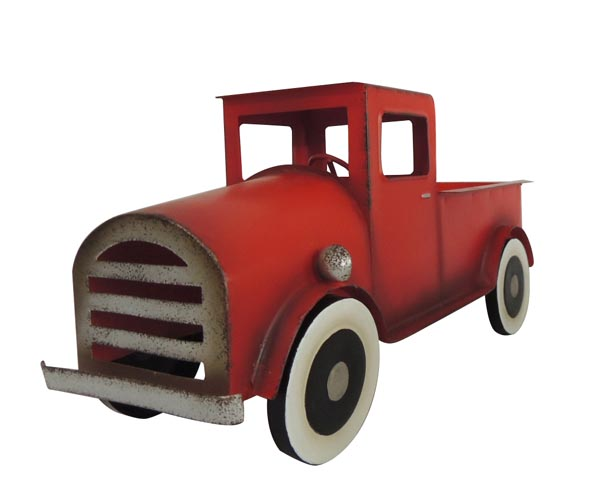 12″ Red Metal Truck