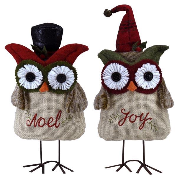 11″ Plush Holiday Owls