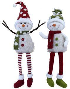 19″ Plush Snowman Sitters