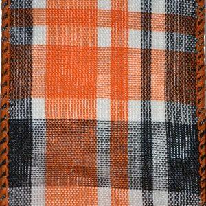 Wired Orange Black Plaid