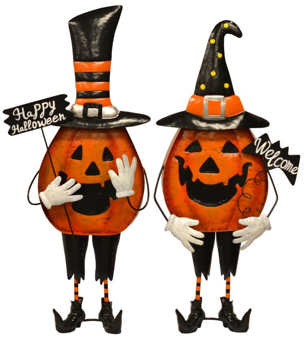 36″ Standing Metal Pumpkin Greeters