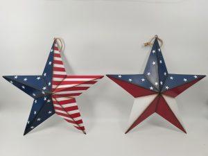 20″ Metal Patriotic Stars Wall Hanger