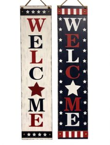 47″ Wooden Welcome Sign
