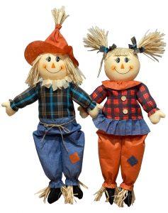 31″ Sitting Scarecrow