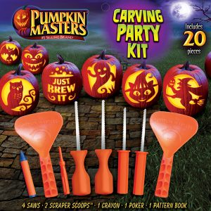 Pumpkin Masters 20 Piece Carving Party Kit