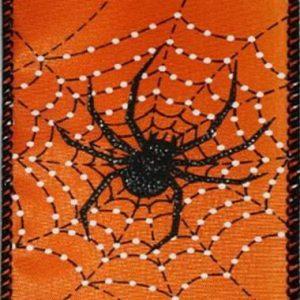 Wired Orange Spider Web
