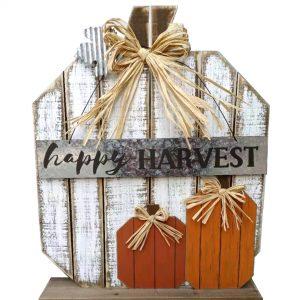 23″ Standing Wood Harvest Pumpkin
