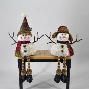 17″ Plush Sitting Snowmen